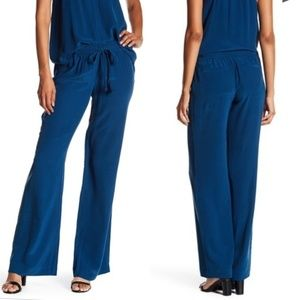 Joie Revolve Silk Drawstring Wide Leg Pants
